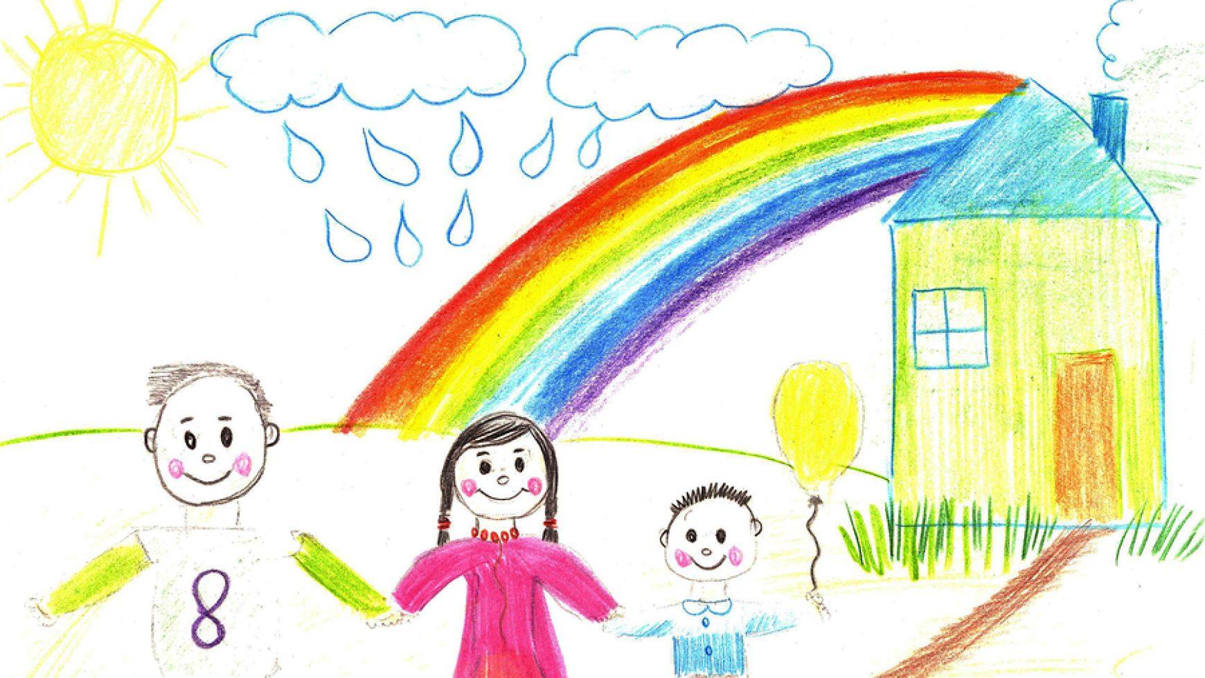 Die Arbeit läuft Dir nicht davon, wenn Du Deinem Kind den Regenbogen zeigst…,